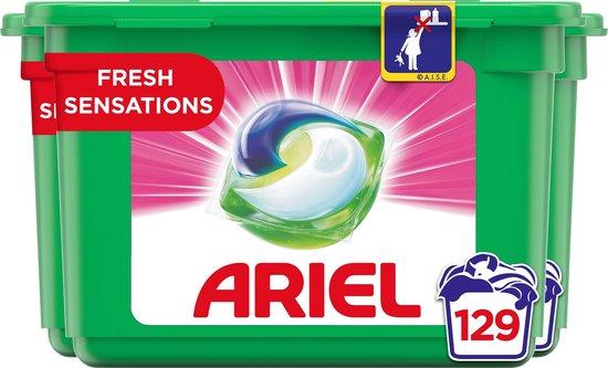 Ariel All-in-1 Pods Fris Roze Wasmiddel - Voordeelverpakking 3 x 43 Wasbeurten - Wasmiddel Pods