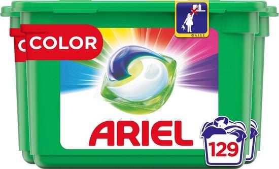 Ariel All-in-1 Pods Colour Wasmiddel - Voordeelverpakking 3 x 43 Wasbeurten - Wasmiddel Pods