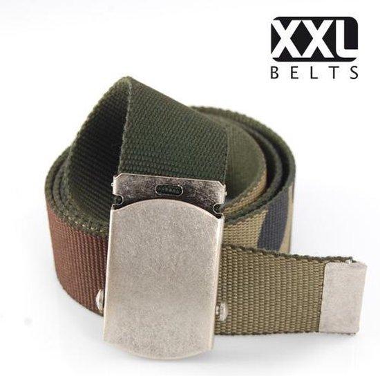 XXL Belts heren- & damesriem Jeans 1390 – Camouflage – 105 cm