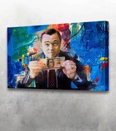 Wolf of Wallstreet 90x60 / Geld / Money - Canvas Schilderij - Foto print op Canvas schilderij (Wanddecoratie woonkamer / slaapkamer) / Canvas Schilderijen / Canvas Print / Canvas Design / Premium Canvas / Canvassen /Canvas Prints/Canvassen met prints