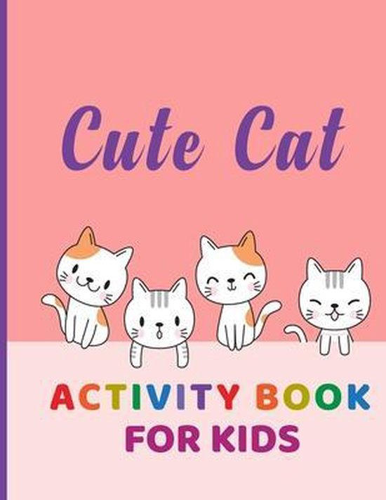 Cute Cat Activity Book for Kids