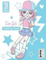 Cute Girls Coloring Book