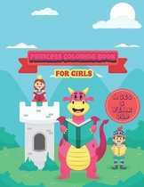 princess coloring book book for girls ages 5 year old