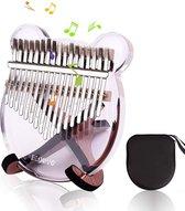 kalimba - Devo Kalimba - duimpiano met 17 sleutels - draagbaar - transparant acryl duimpiano - vingerpiano Marimba met hamer - geschikt voor muziekliefhebbers van kinderen als verjaardagscadeau