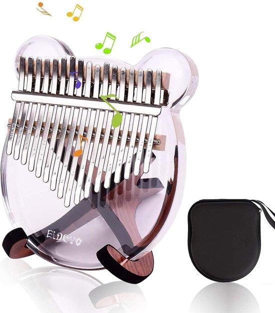 Kalimba - Devo Kalimba - duimpiano met 17 sleutels - draagbaar - transparant acryl duimpiano - vingerpiano Marimba met hamer - appropriate for muziekliefhebbers van Kinderen als verjaardagscadeau