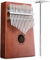 kalimba - Nsm Kalimba-duimpiano met 17 sleutels - solide vingerpiano - acacia hout - met stemgereedschap - muziekinstrument - cadeau met draagtas