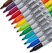 Sharpie Permanent Markers - 12 kleuren - Met fijne punt