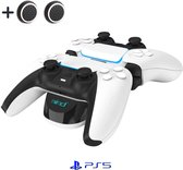 Playstation 5 (PS5) Oplaadstation Docking station Laadstation DualSense charging station Accessoires - Oplader - Charger - 2 Controllers - Usb C kabel