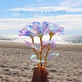 Roses of Eternity - 24K Galaxy Roos - Incl Decoratie doos - Gouden Roos - Valentijn cadeautje vrouw - Moederdag cadeau - Cadeau voor haar