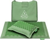Spijkermat met kussen & tas | Acupressuur Acupunctuur mat | Massagemat - Groen