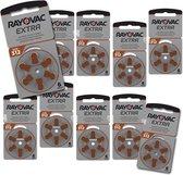 Rayovac gehoorapparaat batterijen - Type 312 - 10 x 6 stuks