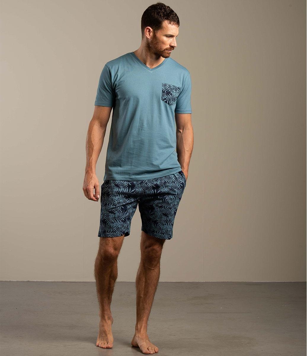 Eskimo pyjama heren - blauw - kim - maat L