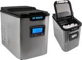 IJsmachine - IJsblokjesmaker -  Ijsblokjesmachine - Ice cube maker - IJsklontjes - IJsblokjes maker - Draagbare Elektrische Ijs machine - Stille en eenvoudige Bediening - 12Kg / 24u - 120W