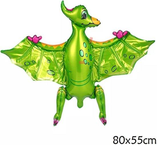 folieballon vliegende draak , dino dinosaurus 80x55cm kindercrea