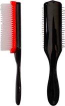 Professionele haarborstel - styling brush - haarborstel -  stylingborstel - krullen - kroeshaar  - borstel - kunststof - detangle brush - Ontklit Borstel | edge control