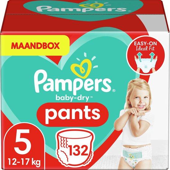 Afbeelding van Pampers Baby-Dry Pants Luierbroekjes - Maat 5 (12-17 kg) - 132 stuks - Maandbox