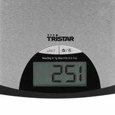 Tristar KW-2435 Keukenweegschaal – 5 kilogram – Roestvrij Staal