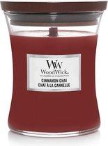 5. Woodwick Hourglass Medium Geurkaars - Cinnamon Chai
