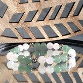 Wellness-House   Armband Jill Design   Zen Armband   Handgemaakt   Bergkristal   Jade   Uniek   Zen Sieraden   Zen Cadeau