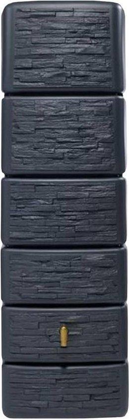 Garantia Regenton Slim - Stone Decor - 300 Liter - Antraciet