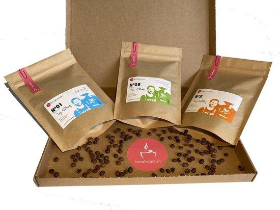 Localroast Koffie Proefpakket Bonen |Vers gebrand |  Top selectie | 3 x 200g  | Cadeaupakket
