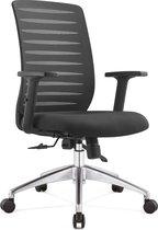OVVIS Ergonomische Bureaustoel - Joy - Zwart met Aluminium Voet