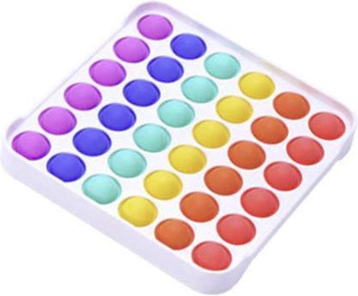 Pop it deluxe   fidget toys   vierkant regenboog