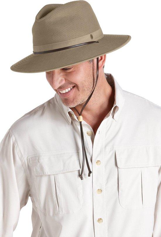 Coolibar UV hoed Heren Fedora - Bruin - Maat L/XL