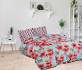 Sleeptime Butterfly Blossom - Dekbedovertrekset - Tweepersoons - 200x200/220 + 2 kussenslopen 60x70 - Multi