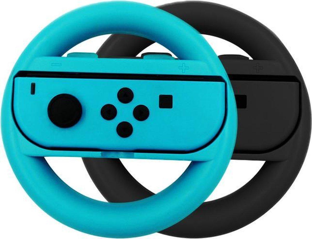 Switch stuur voor Joy-Con - 2 stuks - Zwart/Blauw - Nintendo Switch Accessoires - Geschikt voor Nint
