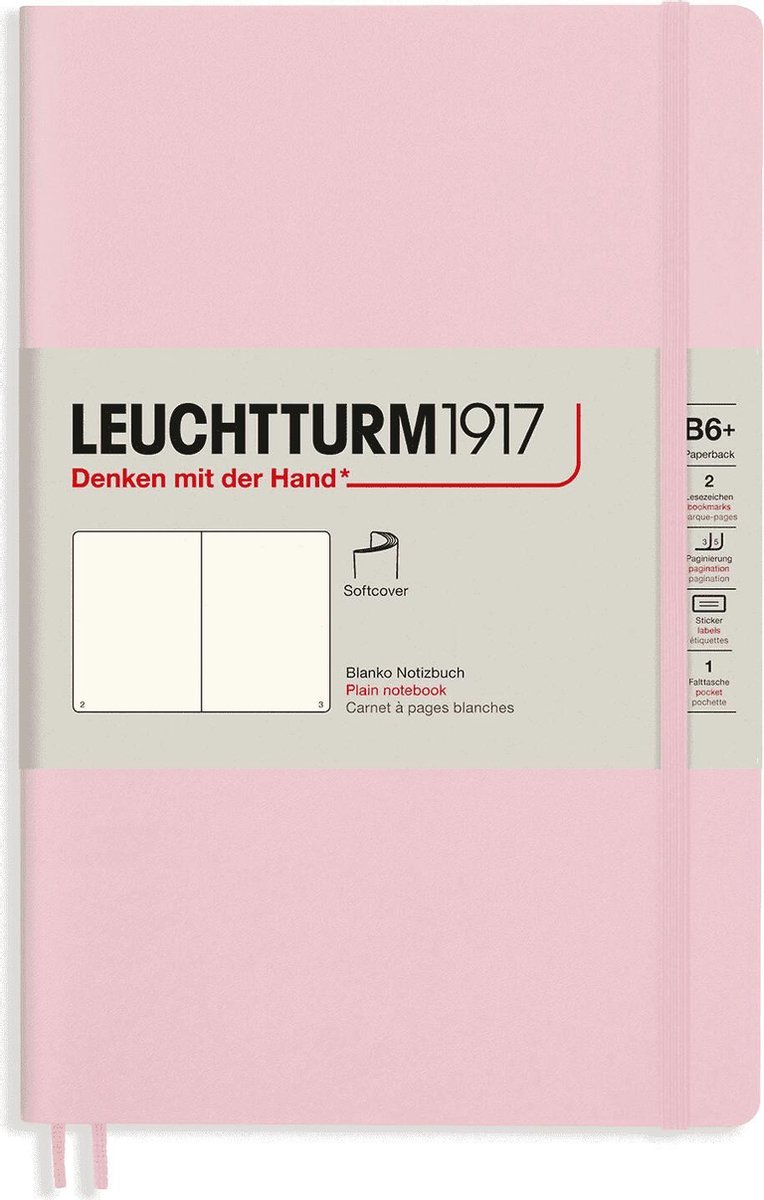 Leuchtturm notitieboek composition softcover 17.8x25.4 cm blanco powder roze