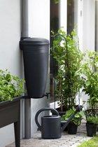 Elho Green Basics Rain Catcher 35ltr - Regenton voor Regenpijp Balkon & Buiten  - 35 Liter - Zwart