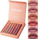 Set van 6 x Matte Lip Gloss Nude | Lipgloss Matte | Lipgloss Set | Lip Set | Waterproof | Nude Kleuren