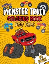 Monster Truck Coloring Book For Kids: A Trucks Coloring Book for Boys