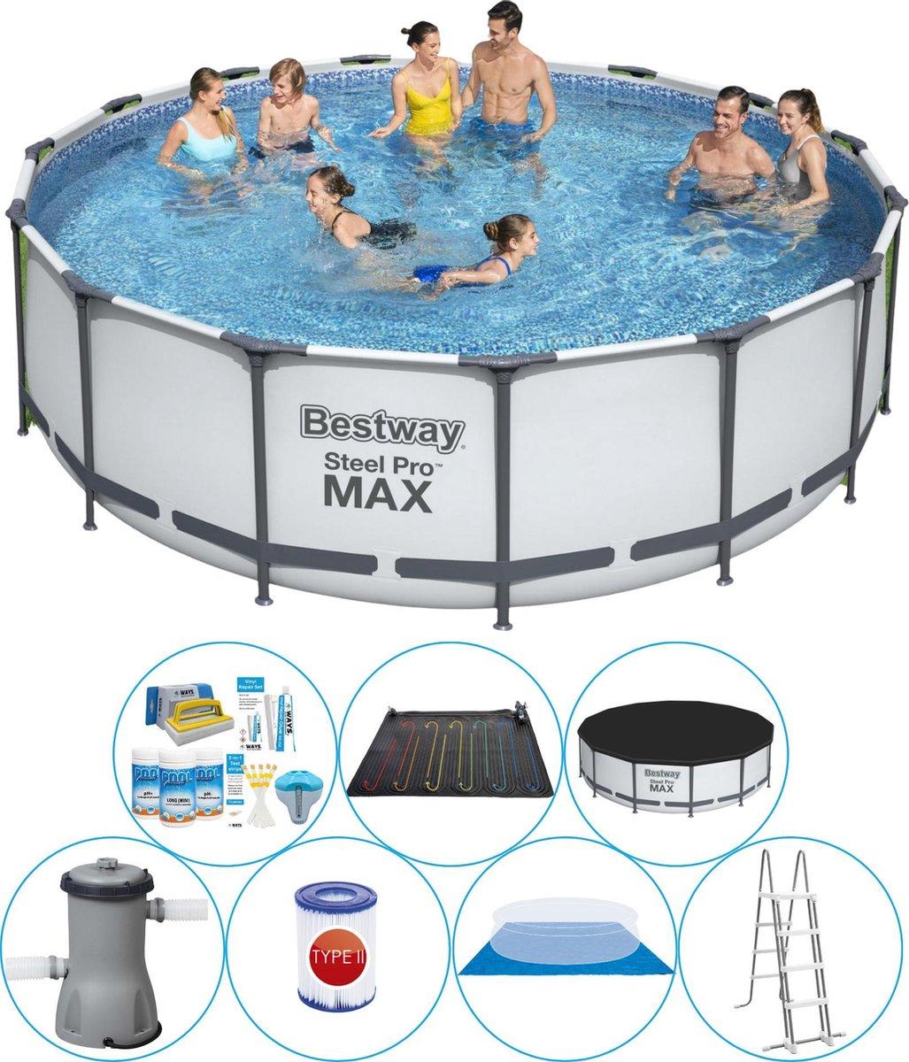 Bestway Steel Pro MAX Rond 457x122 cm - Zwembad Combi Deal