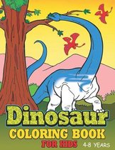 Dinosaur Coloring Book For Kids 4-8 Years