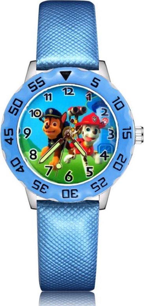 Paw Patrol horloge met glow in the dark wijzers deluxe