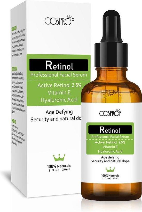 Active Retinol Serum - Met Vitamine E & Hyaluronzuur - Gezichtsserum - Collageen - Anti Aging - Celvernieuwing - Anti-Acne - Tegen Mee-eters en Grove Poriën - Tegen Rimpels & Pigmentvlekken - 30ml