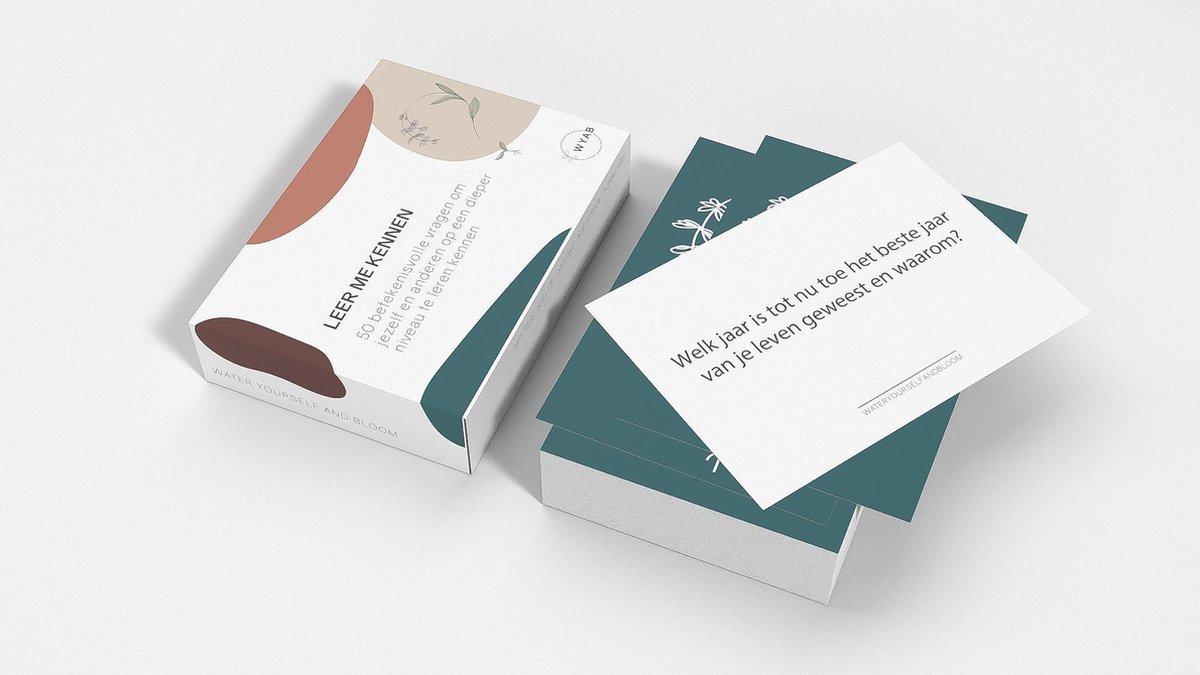 Leer Me Kennen® Kaartspel met 50 Betekenisvolle Vragen - Familie, Vrienden Editie