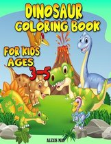 Dinosaur Coloring Book for Kids Ages 3-5