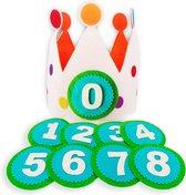 Verjaardagskroon - Feesthoed - Vilt - Jongen - Meisje - Baby - 0 tot 10 jaar