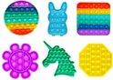 Allerion® Fidget Toy Pop-It - Set van 6 stuks