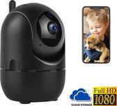 Beveiligingscamera - IP Huisdiercamera Zwart - 2-Weg Audio - Beweeg en Geluidsdetectie - Nachtvisie - Draadloos - Hondencamera - Opslag in Cloud of App