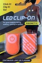Hardloop verlichting- Magnetische led-klip inclusief batterij - Zichtbaar in het donker - Reflectere