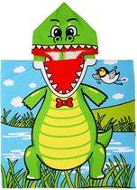 JAXY Badcape Baby - Badcape - Baby Badjas - Omslagdoek - Omslagdoek - Baby Handdoek Met Capuchon - Strandhanddoek - Badponcho - Poncho Handdoek - Microfiber - 60x90cm - Krokodil