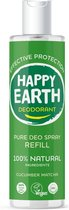 Happy Earth Pure Deodorant Spray Navulling Cucumber Matcha 300 ml - 100% natuurlijk