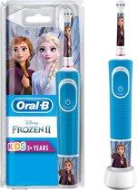 Oral-B Kids Oplaadbare Elektrische Tandenborstel - 1 Handvat Met Disney Frozen 2 - Voor Kinderen Vanaf 3 Jaar