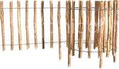 Floranica® Houten Schuttingen   Lengte 5 m1   Hoogte 50cm   Stavenafstand 8-10cm   Walnoot Rolhek    Palissade voor bloemperken, Bloembakken, moestuinen en tuinen   Dierenbarrière   Rollborder   Schapenhek