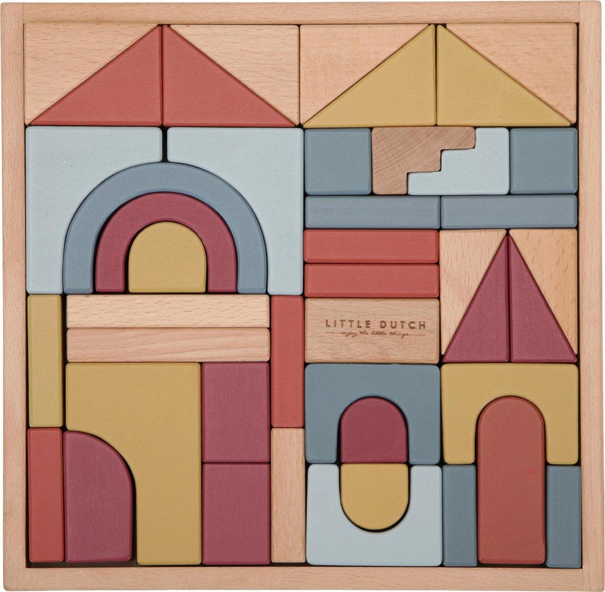 Little Dutch - Wooden building blocks, Pure & Nature (4704)
