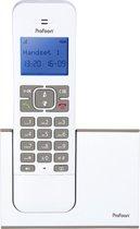 Profoon PDX-8400 WT/TE DECT Draadloze telefoon - 1 Handpost -  GAP compatible - Wit/Taupe